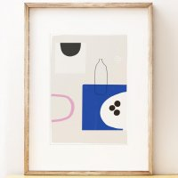 SHAPE COLOUR PATTERN | Modern still life wall art 'Surface Study 3' art print | A3 アートプリント/ポスター