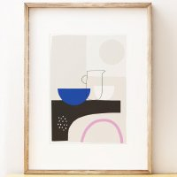 SHAPE COLOUR PATTERN | Modern still life wall art 'Surface Study 4' art print | A3 アートプリント/ポスターの商品画像