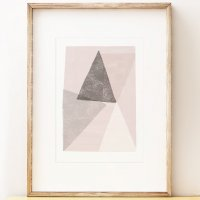SHAPE COLOUR PATTERN | Abstract art print 'Monolith 2' art print | A3 アートプリント/ポスターの商品画像