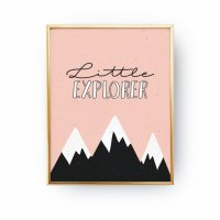 LOVELY POSTERS | LITTLE EXPLORER PRINT | A3 アートプリント/ポスター (A2/50x70cm)