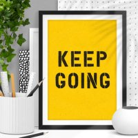 THE MOTIVATED TYPE | KEEP GOING (black and yellow) | A3 アートプリント/ポスターの商品画像