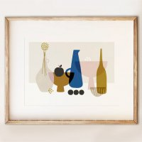 SHAPE COLOUR PATTERN | Still Life with Black Apple contemporary art print | A3 アートプリント/ポスターの商品画像