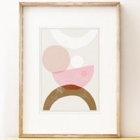 SHAPE COLOUR PATTERN | Abstract art print 'Balancing 3' | A3 アートプリント/ポスター