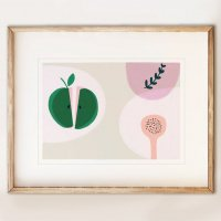SHAPE COLOUR PATTERN | Green Apple modern art print | A3 アートプリント/ポスターの商品画像