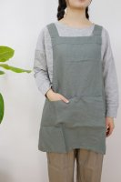 not PERFECT LINEN | SHORT SQUARE CROSS LINEN APRON (forest green) | エプロン