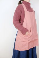 not PERFECT LINEN | SHORT SQUARE CROSS LINEN APRON (salmon blush) | エプロンの商品画像