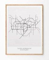 【ネコポス送料無料】LES TEMPS MODERNES   LONDON UNDERGROUND   A4 アートプリント/ポスターの商品画像