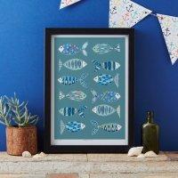 JESSICA HOGARTH | FISH ART PRINT | A3 アートプリント/ポスターの商品画像