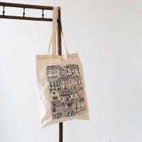 【ネコポス送料無料】JESSICA HOGARTH | COASTAL COTTAGES TOTE BAG | トートバッグの商品画像