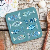 【ネコポス送料無料】JESSICA HOGARTH | FISH PATTERN MELAMINE COASTER | コースターの商品画像