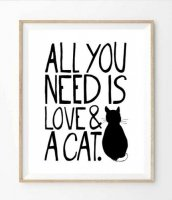 THE LOVE SHOP | ALL YOU NEED IS LOVE AND A CAT | A2 アートプリント/ポスター