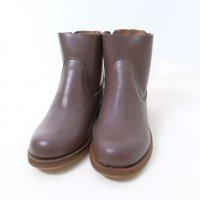 【SALE 20%オフ】minan polku | side zip boots (d.brown) | ブーツ 38 (24cm)の商品画像