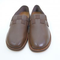 【SALE 30%オフ】minan polku | checkered pattern slip-on (d.brown) | シューズの商品画像