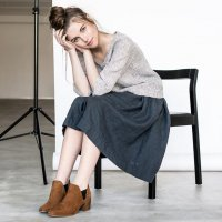 not PERFECT LINEN | linen skirt with deep pockets (charcoal)の商品画像