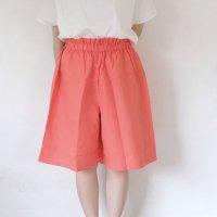 【SALE 30%オフ】me. | リネンコットンハーフパンツ(carrot orange) | ボトムスの商品画像