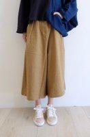 【在庫残1】sneeuw (スニュウ) | コットンウールキュロット  (beige) | パンツの商品画像