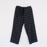 LAITERIE | フランネルチェックパジャマパンツ (charcoal) |パンツの商品画像