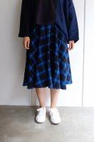 【SALE 50%オフ】youMoLaugh | オンブレーチェックSK (blue) | スカートの商品画像