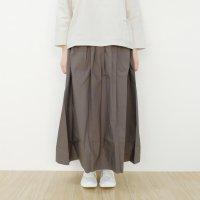 Cion | コットンタックロングスカート (グレー) | スカートの商品画像