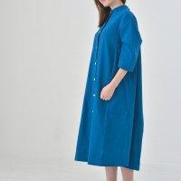 """rikolekt   """"daily""""シャツワンピース (blue)   ワンピースの商品画像"""