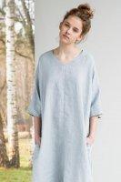 not PERFECT LINEN   washed linen KIMONO tunic (ice grey)   着丈95cmの商品画像