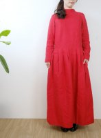 the last flower of the afternoon   夕べの祈り one-piece dress (carmine)   ワンピースの商品画像