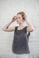 not PERFECT LINEN | LINEN TANK TOP (charcoal) | タンクトップ | レディース UK8/Sの商品画像