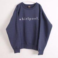 school | whirlpool SWEATSHIRT (navy) | 裏起毛スウェットの商品画像