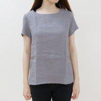 not PERFECT LINEN | BASIC LINEN T SHIRT (dark grey) | シャツ | レディース UK8/Sの商品画像