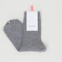 Tricote | ウールリブソックス (gray) | ソックスの商品画像