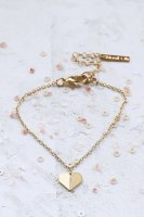 Shlomit Ofir | Tiny Origami Heart Bracelet (gold) | ブレスレット