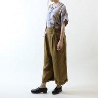 MAGALI | 天日干しリネン・サロペットパンツ (khaki) | ボトムスの商品画像