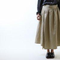 MAGALI | アイリッシュリネン&コットン・イレギュラースカート (beige) | ボトムスの商品画像