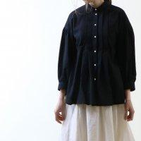 MAGALI | 東炊きコットンローン・ファーマー・タックブラウス (black) | トップスの商品画像