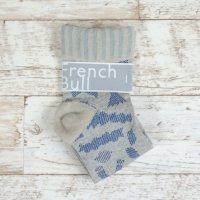 French Bull (フレンチブル)   マカロニソックス (ブルー)   ソックス【シンプル 可愛い 靴下】の商品画像