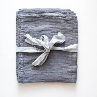 not PERFECT LINEN | LARGE LINEN WAFFLE BATH TOWEL (dark grey) | バスタオルの商品画像