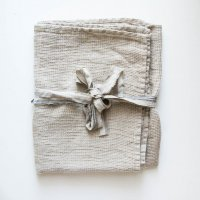 not PERFECT LINEN | LARGE LINEN WAFFLE BATH TOWEL (natural) | バスタオルの商品画像