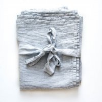 not PERFECT LINEN | LARGE LINEN WAFFLE BATH TOWEL (ice blue) | バスタオルの商品画像