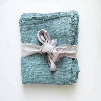 not PERFECT LINEN | LARGE LINEN WAFFLE BATH TOWEL (aqua green) | バスタオルの商品画像
