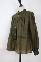 the last flower of the afternoon | 揺蕩いの drawstring blouse (khaki) | トップスの商品画像