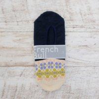 French Bull (フレンチブル)   アロマカバー (ネイビー)   ソックス【シンプル 可愛い 靴下】の商品画像
