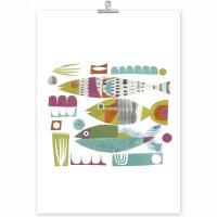 CLARE YOUNGS |  SWIM FISH SWIM | A3 アートプリント/ポスター【北欧 アニマル オシャレ ウォールインテリア】の商品画像