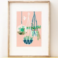SHAPE COLOUR PATTERN | Hanging Gardens botanical  art print | A3 アートプリント/ポスター【北欧 シンプル モダン インテリア】の商品画像