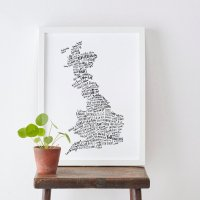 OLD ENGLISH CO. | BRITISH FOOD MAP PRINT | A3 アートプリント/ポスターの商品画像