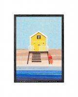 LATTE DESIGN   Beach hut 2 print (yellow)   A3 アートプリント/ポスター【ラッテデザイン インテリア オシャレ シンプル】の商品画像