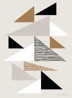 【ネコポス送料無料】ELOISE RENOUF | TAPESTRY TRIANGLES NATURAL | A4 アートプリント/ポスターの商品画像