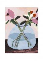 【ネコポス送料無料】CLARA SELINA BACH | FLOWER IN GLASS VASE | A4 アートプリント/ポスターの商品画像
