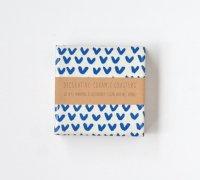 【ネコポス送料無料】TILISSIMO | BLUE ON WHITE ZIG ZAG - CERAMIC TILE COASTER | セラミックコースター 2枚セット【北欧 シンプル】の商品画像