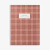 KARTOTEK COPENHAGEN   LARGE NOTEBOOK CHECK (brick red)   ノートブック【北欧 デンマーク シンプル】