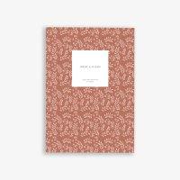 KARTOTEK COPENHAGEN   MEDIUM NOTEBOOK LEAVES (terracotta)   ノートブック【北欧 デンマーク シンプル】
